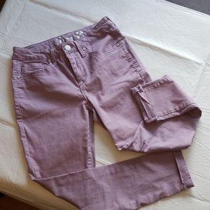 Seven 7 brand lavender skinny jeans
